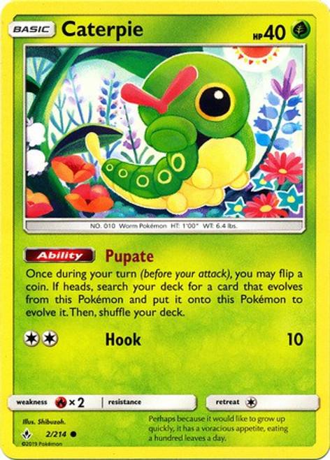 Pokemon Sun & Moon Unbroken Bonds Common Caterpie #2