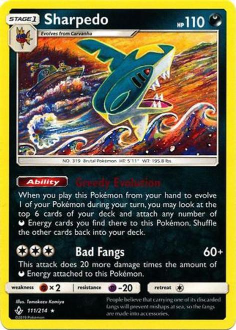 Pokemon Sun & Moon Unbroken Bonds Rare Sharpedo #111