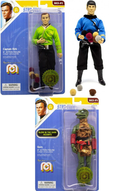 Star Trek Kirk, Spock & Gorn Set of 3 Action Figures