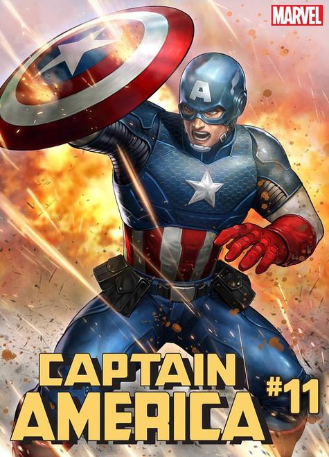 Marvel Comics Captain America #11 Comic Book [Battle Lines Variant Cover]
