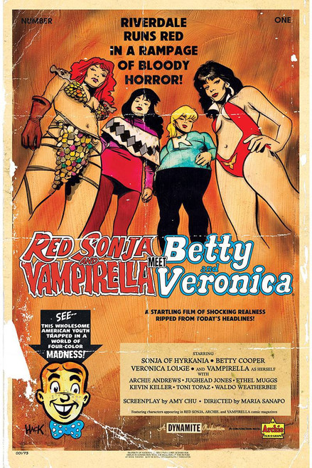 Dynamite Entertainment Red Sonja & Vampirella Meet Betty & Veronica #1 Comic Book [Robert Hack Cover C]