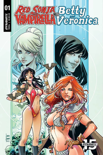 Dynamite Entertainment Red Sonja & Vampirella Meet Betty & Veronica #1 Comic Book [Laura Braga Cover E]