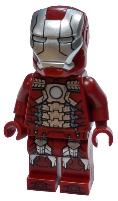LEGO Marvel Super Heroes Avengers Endgame Iron Man Mark 5 Armor Minifigure [Trans-Clear Head Loose]