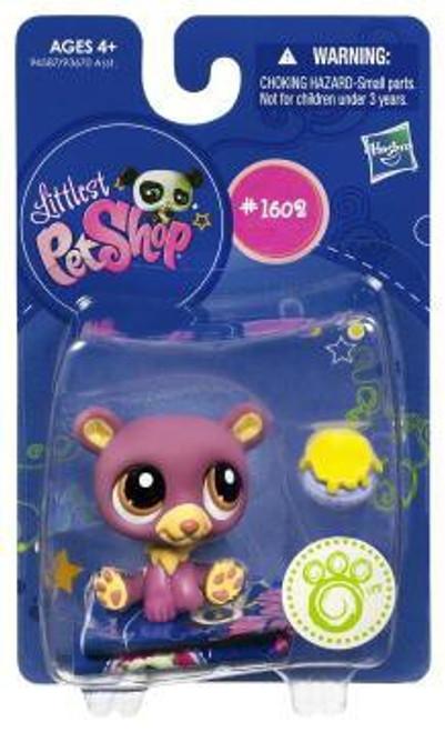 Littlest Pet Shop Bear Figure #1602 [Purple]