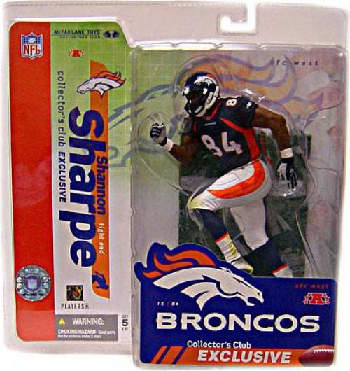 McFarlane Toys NFL Denver Broncos Sports Picks Collectors Club Shannon Sharpe Exclusive Action Figure [Blue Jersey]