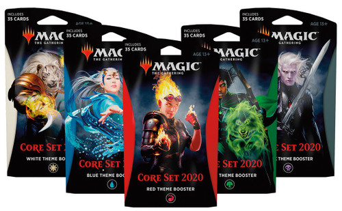 MtG Trading Card Game 2020 Core Set Set of 5 Theme Boosters