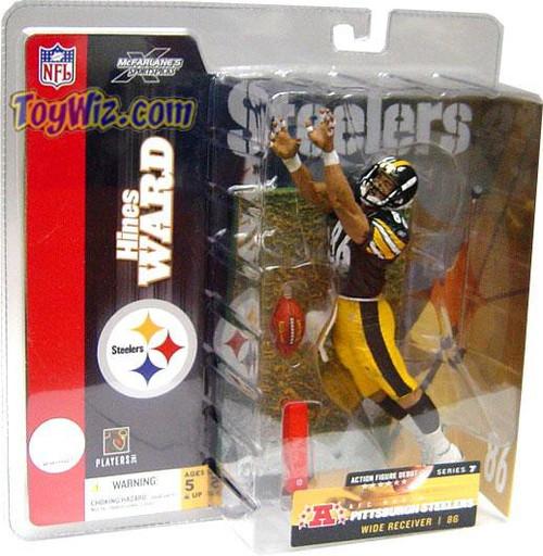 McFarlane Toys NFL Pittsburgh Steelers Sports Picks Series 7 Hines Ward Action Figure [Black Jersey]