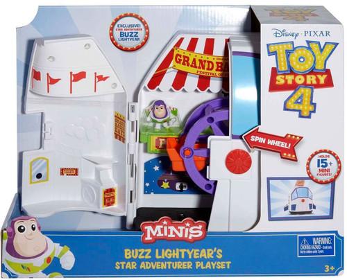 Disney / Pixar Toy Story 4 MINIS Buzz Lightyear's Star Adventurer Playset