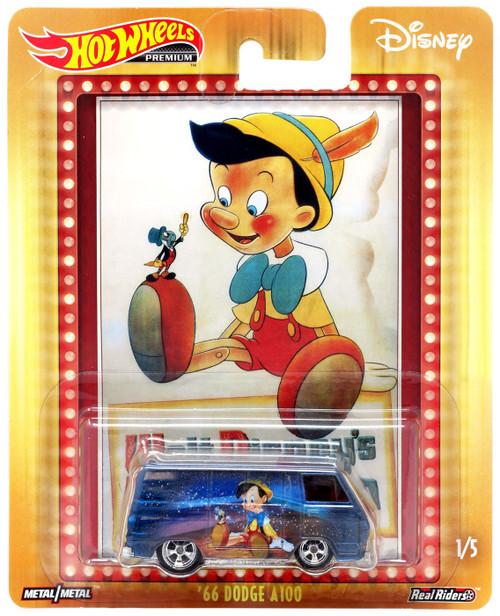 Disney Hot Wheels Premium '66 Dodge A100 Die Cast Car #1/5 [Pinocchio]