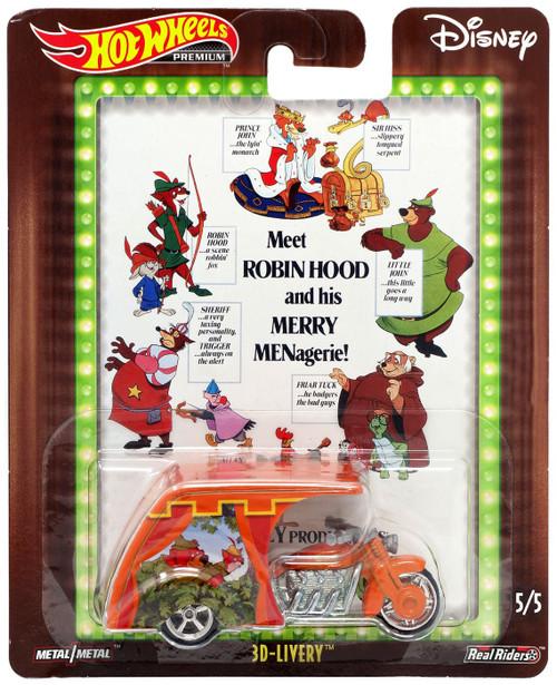 Disney Hot Wheels Premium 3D-Livery Die Cast Car #5/5 [Robin Hood]