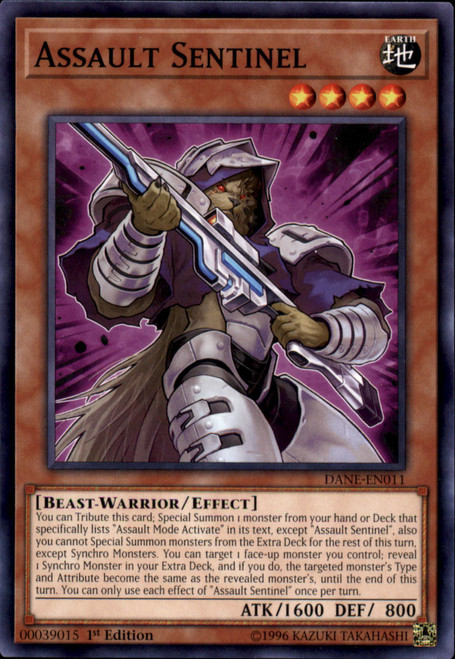 YuGiOh Dark Neostorm Common Assault Sentinel DANE-EN011