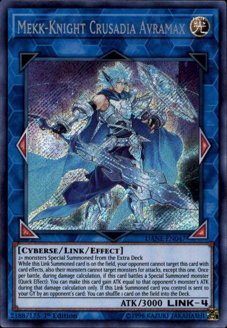 YuGiOh Dark Neostorm Secret Rare Mekk-Knight Crusadia Avramax DANE-EN047
