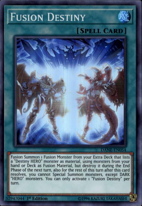 YuGiOh Dark Neostorm Super Rare Fusion Destiny DANE-EN054