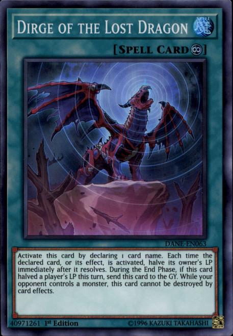 YuGiOh Dark Neostorm Super Rare Dirge of the Lost Dragon DANE-EN063
