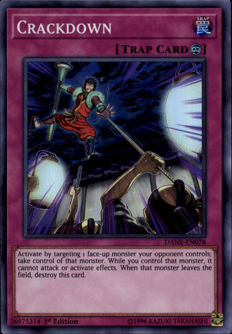 YuGiOh Dark Neostorm Super Rare Crackdown DANE-EN078