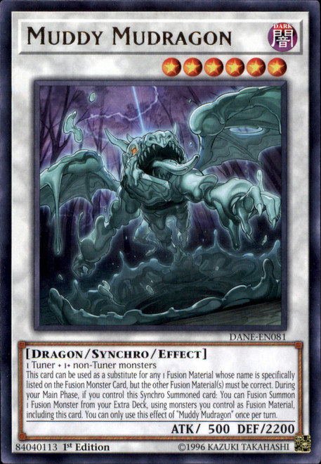 YuGiOh Dark Neostorm Rare Muddy Mudragon DANE-EN081