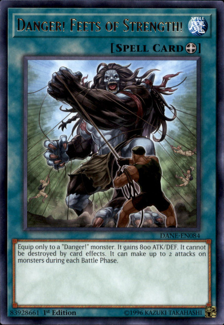 YuGiOh Dark Neostorm Rare Danger! Feets of Strength! DANE-EN084