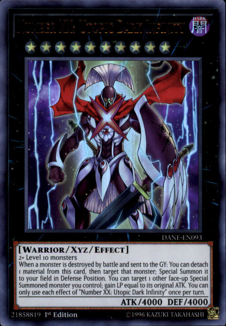 YuGiOh Dark Neostorm Ultra Rare Number XX: Utopic Dark Infinity DANE-EN093