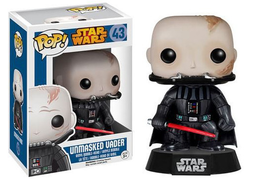 Funko POP! Star Wars Darth Vader Vinyl Bobble Head #43 [Unmasked, Damaged Package]