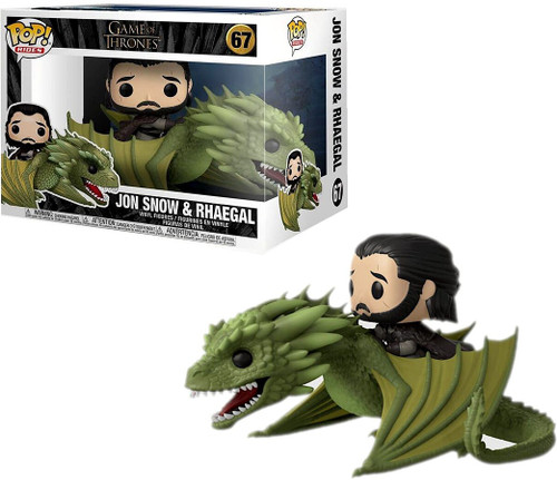 Funko Game of Thrones POP! Rides Jon Snow & Rhaegal Vinyl Figure #67