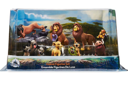 Disney The Lion King Mufasa, 2x Simba, Rafiki, Scar, Pumbaa, Timon & Shenzi, Banzai & Ed Exclusive 8-Piece Deluxe PVC Figure Playset