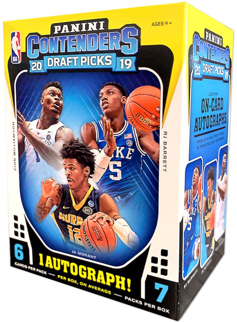 NBA Panini 2019-20 Contenders Draft Picks Basketball Trading Card BLASTER Box [7 Packs, 1 Autograph! Look for Zion Williamson]