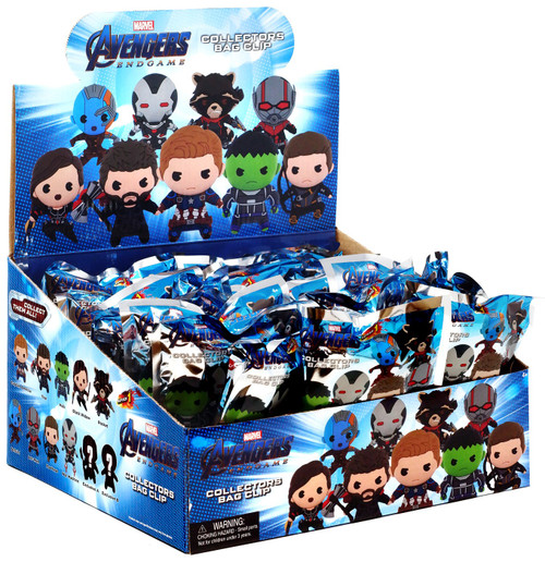 Marvel 3D Figural Foam Bag Clip Series 1 Avengers Endgame Mystery Box [24 Packs]