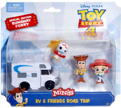 Disney / Pixar Toy Story 4 MINIS RV & Friends Road Trip Exclusive Mini Figure Set [Woody, Jessie & Forky]