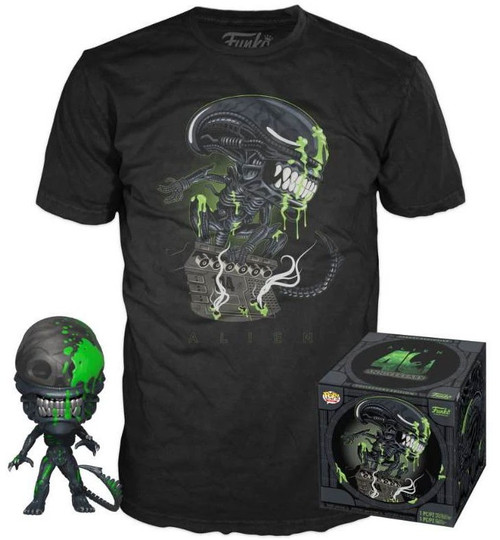 Funko 40th Anniversary POP! Movies Alien Vinyl Figure & T-Shirt [Large]
