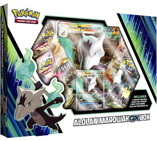 Pokemon Trading Card Game Sun & Moon Alolan Marowak GX Box [4 Booster Packs, Promo Card & Oversize Card]