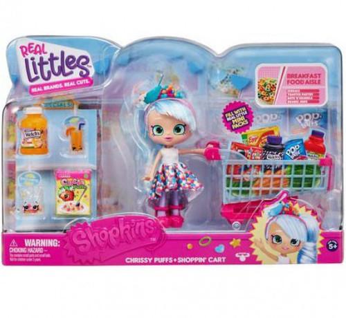 Shopkins Real Littles Season 12 Chrissy Puffs Shop Cart Playset