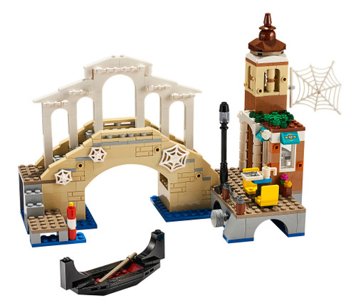 LEGO Marvel Super Heroes Spider-Man Far From Home Venice Scene with a Canal-Side Cafe, Bridge, and Gondola [without Minifigures Loose]