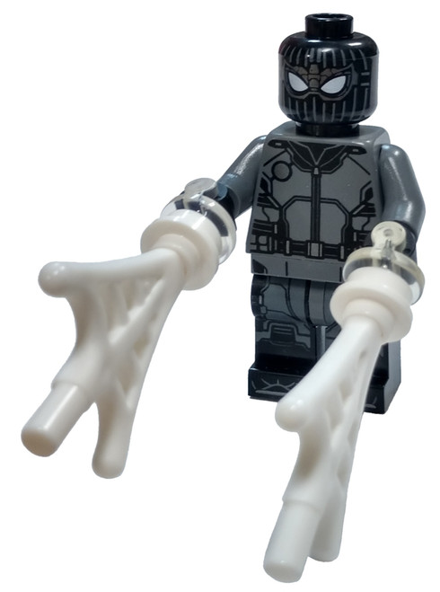 LEGO Marvel Super Heroes Spider-Man Far From Home Spider-Man Minifigure [Black and Gray Suit, Webs Loose]