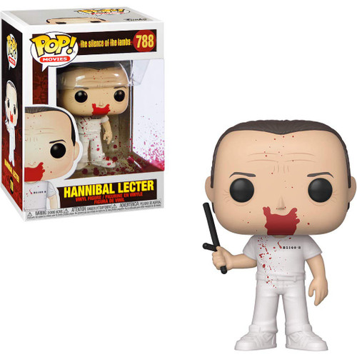 Funko Silence of the Lambs POP! Movies Hannibal Lecter Vinyl Figure [Bloody, Holding Billy Club]