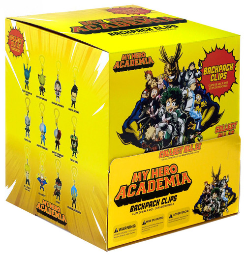 Backpack Clips My Hero Academia Mystery Box [24 Packs]