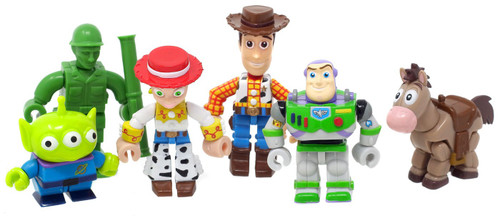 Disney / Pixar Toy Story 2 Gashapon Buzz, Woody, Jessie, Bullseye, Army Man, & Alien 2.5-Inch Set of 6 Figures