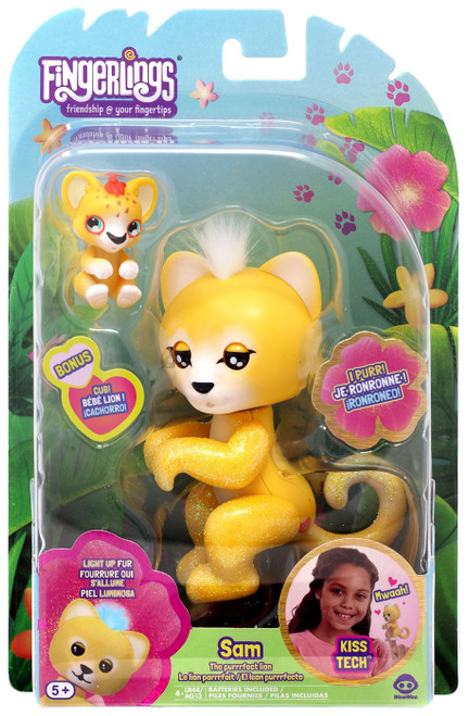 Fingerlings The Purrrfect Lion Sam Figure [Lights Up!]
