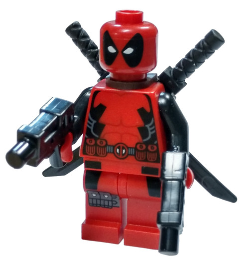 LEGO Marvel Super Heroes X-Men Deadpool Minifigure [Loose]