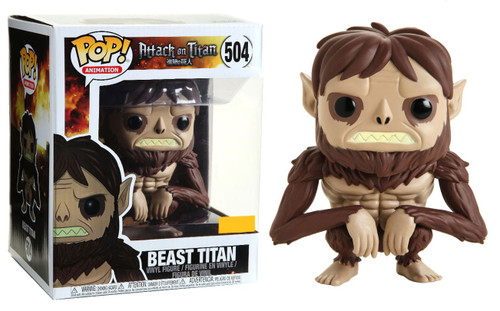 Funko Attack on Titan POP! Animation Beast Titan Exclusive 6-Inch Vinyl Figure #504 [Super-Size, Damaged Package]