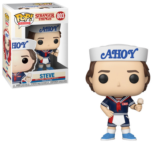 6a4e76039395 Stranger Things Season 3 Funko POP! TV Steve Vinyl Figure  803  with Hat  and Ice Cream  (Pre-Order ships July)