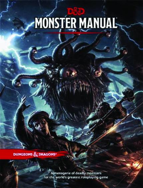 Dungeons & Dragons 5th Edition Monster Manual Hardcover Roleplaying Core Rulebook