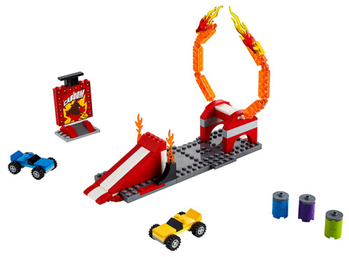 LEGO Toy Story 4 Ramp with Ring of Fire, 2 Cars, and Stunt Sign [Without Minifigures Loose]