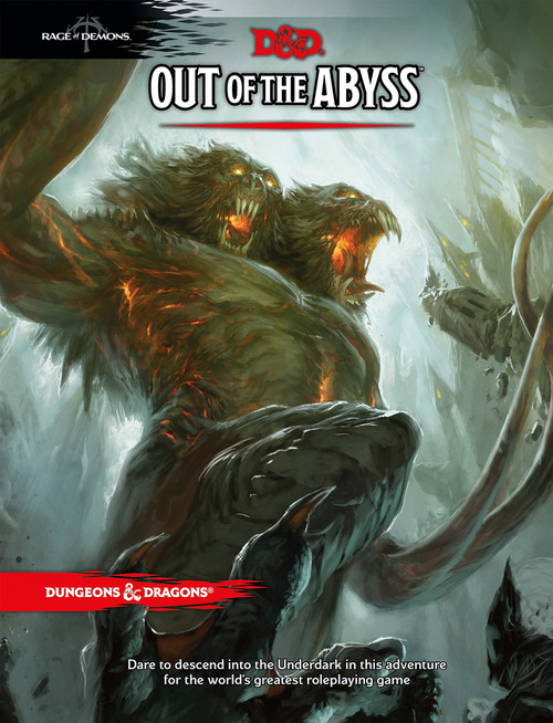 Dungeons & Dragons 5th Edition Adventure Out of the Abyss Hardcover Roleplaying Book