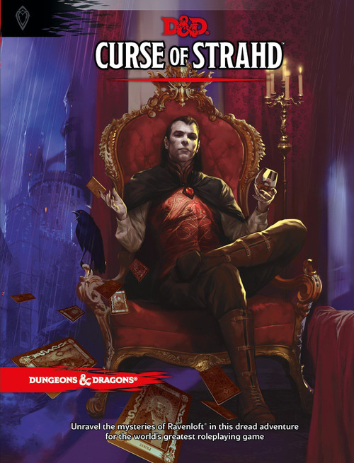 Dungeons & Dragons 5th Edition Curse of Strahd Hardcover Roleplaying Book [Classic]