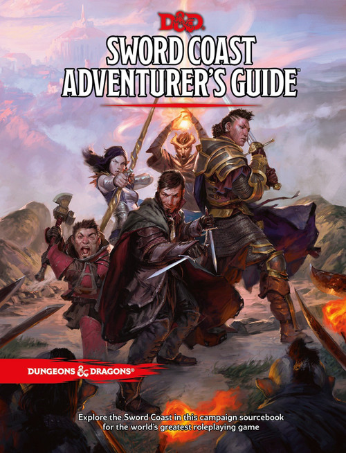 Dungeons & Dragons 5th Edition Sword Coast Adventurer's Guide Hardcover Roleplaying Book