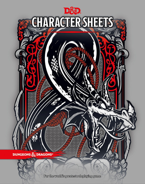 Dungeons & Dragons 5th Edition Character Sheets Roleplaying Accessory