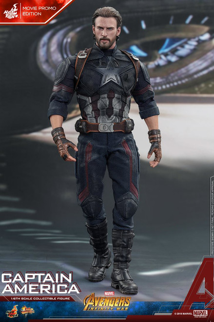 Marvel Avengers Infinity War Movie Masterpiece Captain America Collectible Figure [Missing Pair of Articulated Shields] [Open Package, Mint Contents]