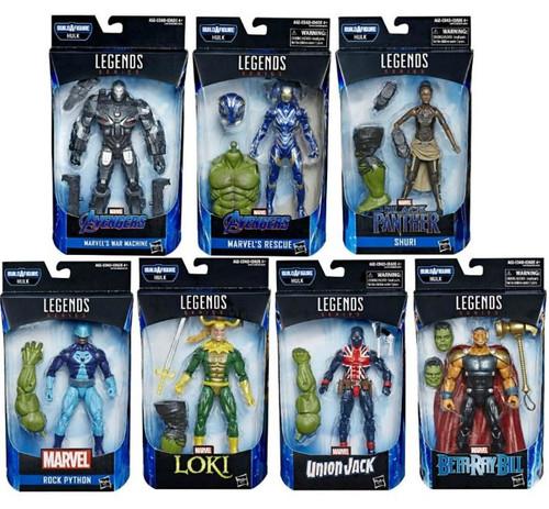 Avengers Endgame Marvel Legends Hulk Series Set of 7 Action Figures