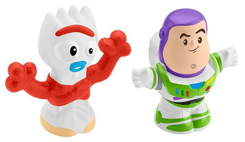Fisher Price Toy Story 4 Little People Buzz Lightyear & Forky Figure 2-Pack