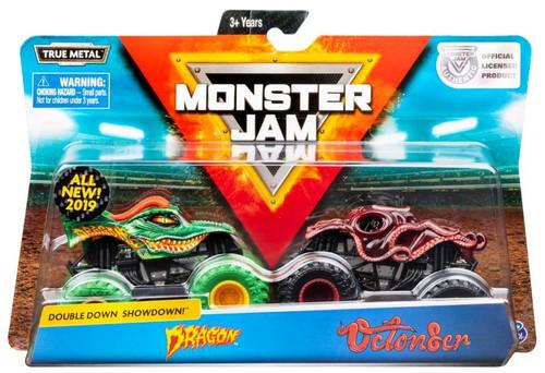 Monster Jam Double Down Showdown! Dragon vs. Octon8er Diecast Car 2-Pack
